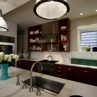 Fascinating Modern Kitchen Details Marble Countertop Roscoe Village Residence