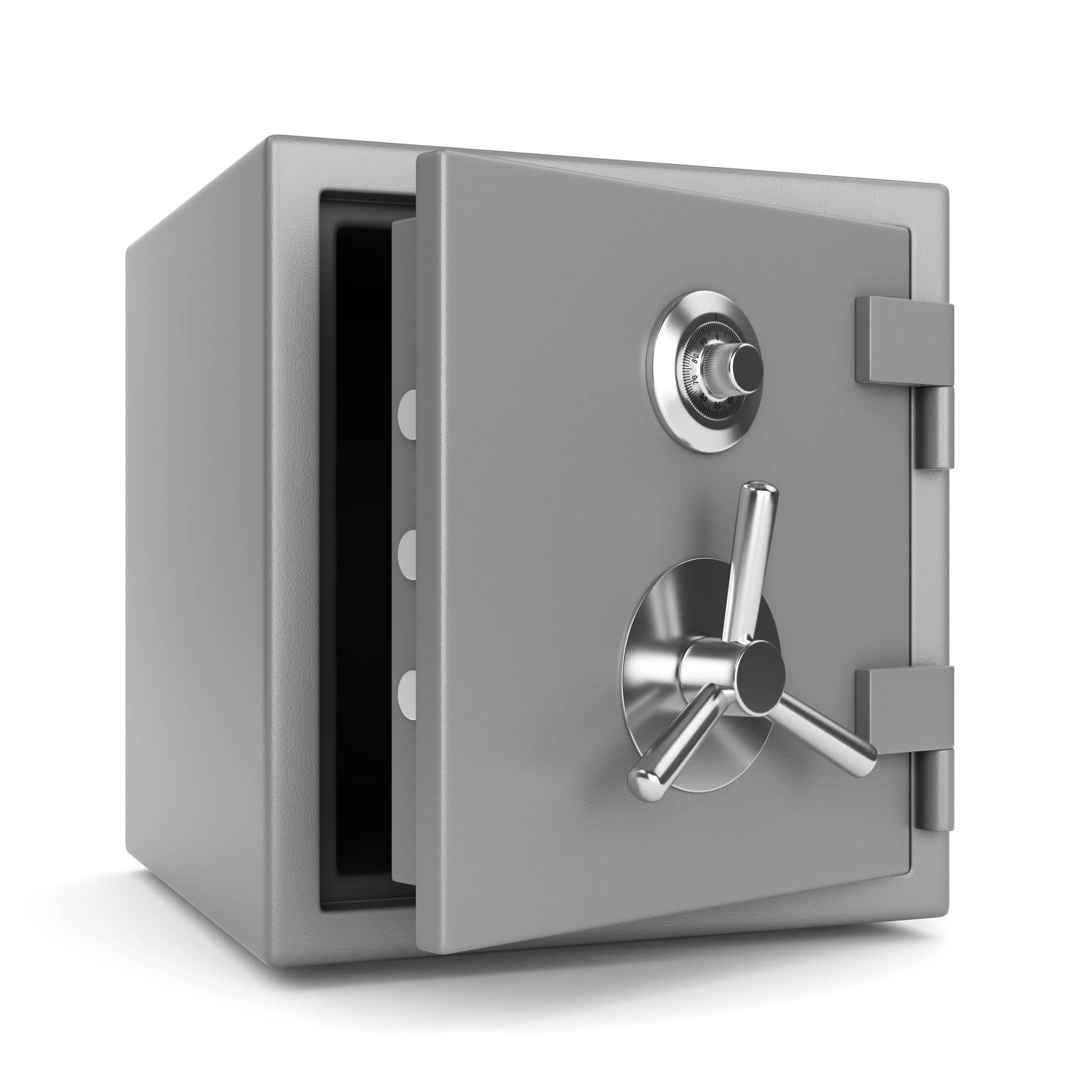 Open Metal Bank Safe